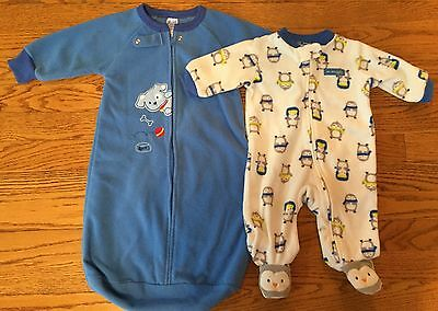 Lot of Boy's Clothing Size 3 months & 0-9 months CARTER'S PAJAMAS Sleepwear