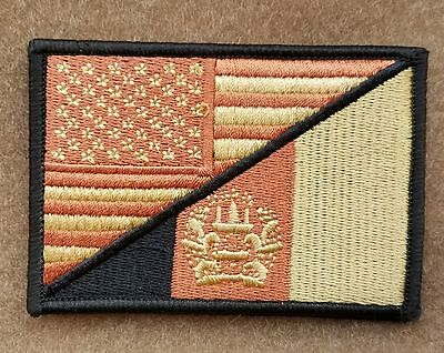 Crown Usa Flag U.s. Army 3D Tactical Morale Badge Embrodiery Hook Loop Patch -01