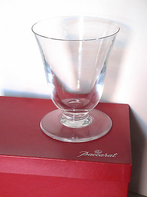 "Baccarat Clear Glass Crystal Vase in Box Large 6.75"" h by 5.4"" w Made in France"