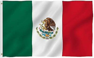 USA SELLER 3' x 5' ft Polyester Mexican Flag MEXICO High Quality Outdoor Indoor