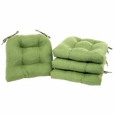 Chair Cushion Set Pad Seat Patio Outdoor Garden Dining Furniture Mastic Green