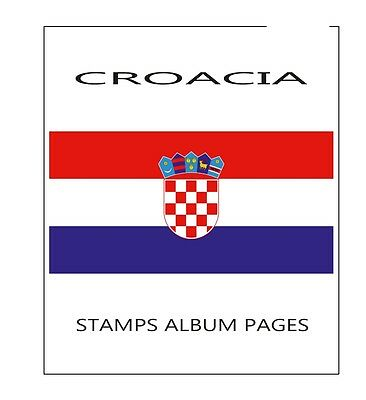 Stamps Album Pages Croatia 2016 - Complete Year Pdf Printable File