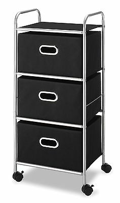 Rolling Drawer Steel/Chrome Home Office 3 Storage Organizer With Wheel SALE