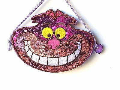 Tokyo Disney Resort Glitter Cheshire Cat ID Pass & Coin Case NEW