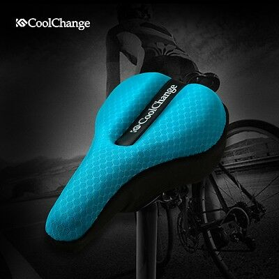 3D Bike Bicycle Soft Silicone GEL Comfort Saddle Cushion Seat Pad Cover Cycling