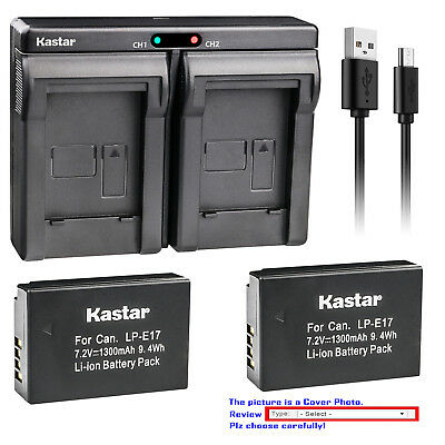 Kastar Battery Charger for Canon LP-E17 LC-E17 LC-E17C EOS M3 EOS Rebel T6i