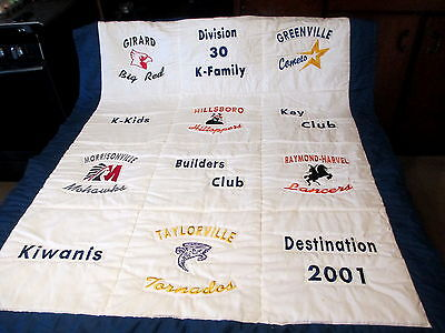 Kiwanis Div 30 K Family Quilt Wall Hanging 6 Central Illinois School Mascots