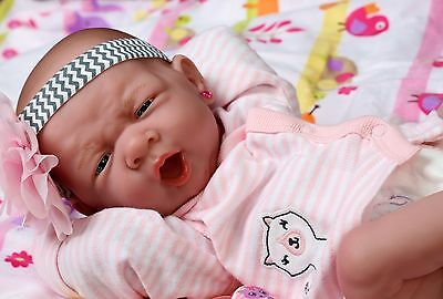 "~~ New ~~ Baby Girl Doll Real Reborn Berenguer 15"" Inch Vinyl Lifelike Newborn"
