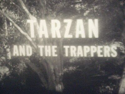 TARZAN AND THE TRAPPERS 16mm feature film B&W 1958 Gordon Scott, Eve Brent