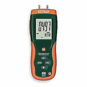 EXTECH Digital Manometer,0 to 13.85 In WC, HD755