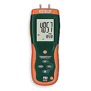EXTECH Digital Manometer,0 to 138.3 In WC, HD750