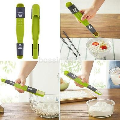 Kitchen Double End Eight Stalls Adjustable Scale Measuring Spoons Metering Spoon
