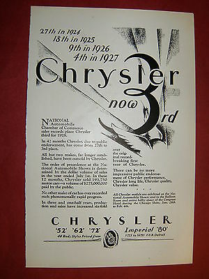 1928 CHRYSLER Original Ad