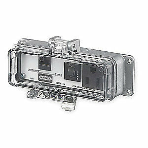 HUBBELL WIRING DEVICE-K Metal Access Port,Power And Data,NEMA 12/4, P155EB, Gray