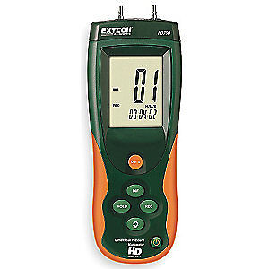 EXTECH Handheld Manometer,0 to 55.40 In WC, HD700