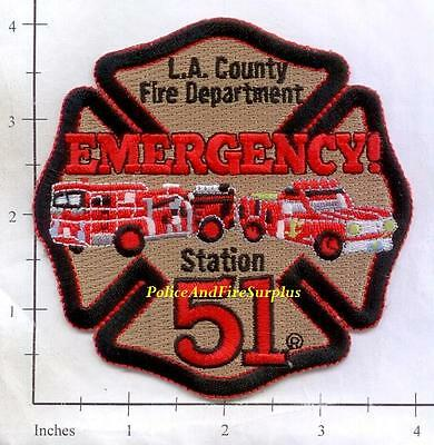 California - Los Angeles County Station 51 CA Fire Dept Patch - Emergency