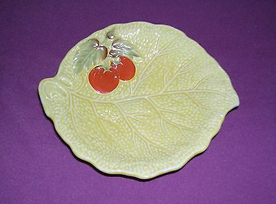 Vintage Crown Devon Leaf With Tomatoes Dish - Made In England