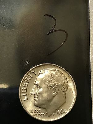 1964 Roosevelt dime. Good condition. #03