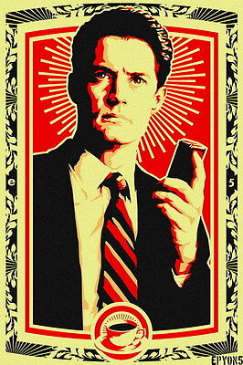 "027 Twin Peaks - Kyle MacLachlan Love Thriller USA TV Show 14""x21"" Poster"