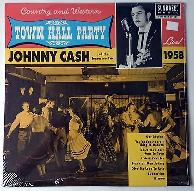 Johnny Cash - Town Hall Party Live 1958 - Lp Mono 2003 Reissue - New Sealed