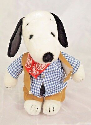 """Vintage Snoopy 1968 United Feature Syndicate 11"""" Plush Snoopy Peanuts Cowboy"""