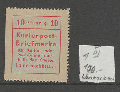 Germany, Post War Locals     Lanterbach 10Pf Type 3  Mh   Cv £100