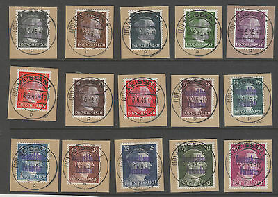 Germany, Post War Local Various Meissen  1-40Pf Fu Expertised Richter