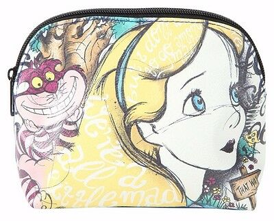 Disney Alice in Wonderland Script Makeup Cosmetic Bag Loungefly New with Tags