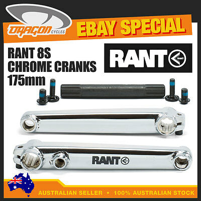 RANT 8S BMX Chrome Cranks 175mm • New in Box