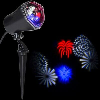 4th of July Outdoor LED Light Show Projector Garden Lawn Spotlight Decoration