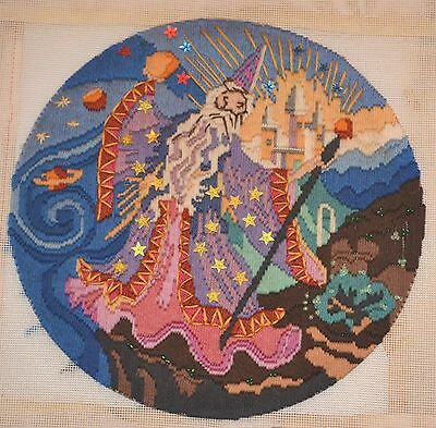 29cm Semco Completed Needlework Tapestry Embroidery Canvas Magician 29cm Diamete