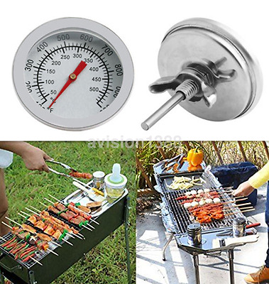 Hot Barbecue BBQ Smoker Grill Stainless Steel Thermometer Temperature Gauge UK