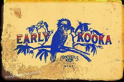 EARLY KOOKA   Metal  Sign  20x 30 cm