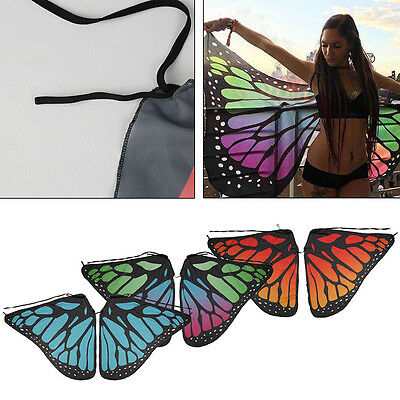 Adults Soft Fabric Butterfly Wings Fairy Ladies Nymph Pixie Cosplay Accessory AU