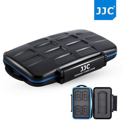 JJC Water-resistant Anti-shock Memory Card Case fits1 SXS + 4 SD + 4 MSD cards