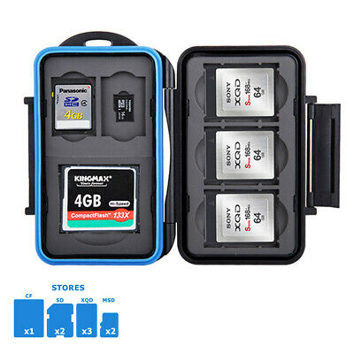 Water-resistant Memory Card Case Holder Storage for 1 CF+2 SD+3 XQD+ 2 MSD Cards