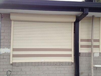 Security Roller Shutters, 4 in Total (paid about $2500)  Sell $320 the lot!