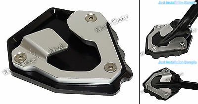 Kickstand Side Stand Enlarger Plate Black For 16-17 HONDA CRF1000L Africa Twin