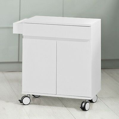 SoBuy® Kitchen Cabinet,Serving Storage Trolley Cart with Cupboard, FKW38-W,UK