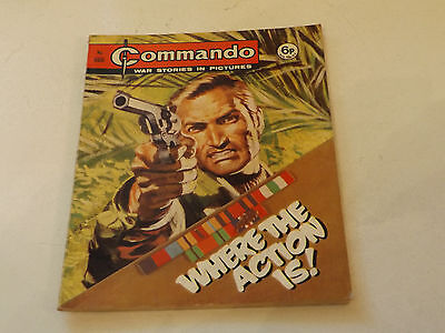 Commando War Comic Number 666,1972 Issue,v Good For Age,45 Years Old,very Rare.