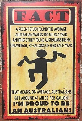 AUSTRALIAN Tin Metal Sign Rustic Look .. MAN CAVE . brand new. AU SELLER