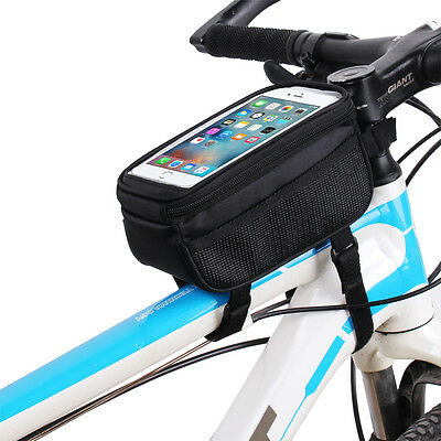 Bike Bicycle Front Top Frame Pannier Tube Bag Case Pouch for Cell Phone Cycling