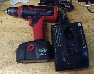 snap on drill 18v with charger 1 battery