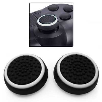 Protection Silicone Bouton Thumb Joystick Manette pour PS 4/Pro Xbox One Blanc