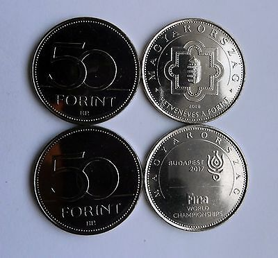 New 50 Forint Hungary 2016-2017 - 70 Anniv, of Forint and FINA, Commemorative
