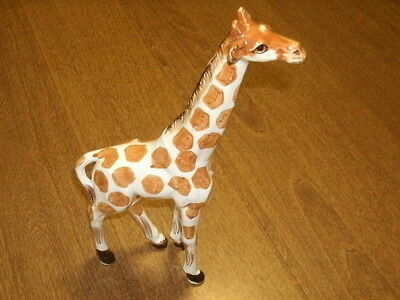 "Giraffe Figurine-Japan Sticker-Stands 11"" High-Nice Details-Glaze Finish-Vgc"