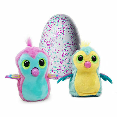 Yellow/Pink Hatchimals Draggles Magic Egg Interactive Pet Kid Toy Gift In Box AU