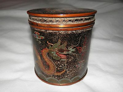 CHINESE Cloisonne Imperial Emperor 5 Claw Dragon Decorated Internal Blue Enamel