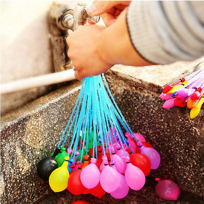 6 Bunch=222pcs Summer Balloons Magic Balloons Filled With Water Kids Outdoor Toy