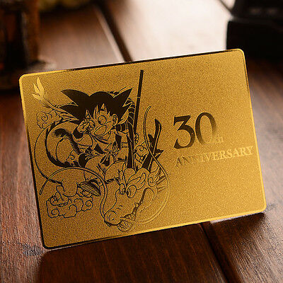 Dragon Ball Z Super Saiyan Son Gokou 30th Anniver GOLD CHRONICLE Card Collection